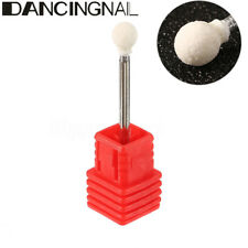 """Ceramic Stone Nail Drill Bit 3/32"""" Rotate Burr Cuticle Clean Manicure Tools"""