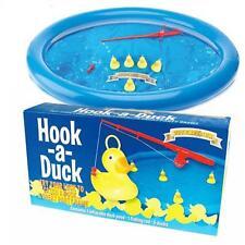 Nuevo Juego De Gancho Un Pato con caña de pescar inflable Duck Pond & 5 patos en caja PW