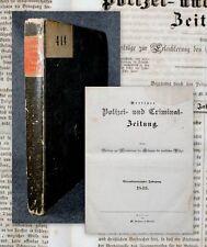 1846 Kriminalität Mord Betrug Folter Diebstahl Berliner Polizei Zeitung