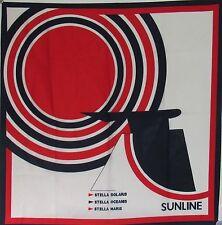 Colorful Sun Line Silk Scarf w/ STELLA SOLARIS Funnel- NAUTIQUES sHiPs WORLDWIDE