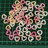 50 X Pearl Heart Wedding Table Confetti Scatter Decorations Ombre 12 mm PO3
