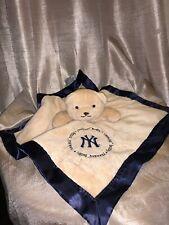New York Yankees Baby Fanatics Security Blanket Lovey Bear  Silky
