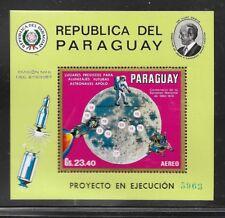 PARAGUAY Sc C321 NH SOUVENIR SHEET OF 1969 - SPACE