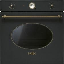 FORNO SMEG SF800AO ESTETICA COLONIALE CLASSE A VENTILATO 60 cm ANTRACITE OTTONE