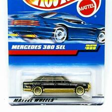 1998 Hot Wheels Mercdes 380 SEL Black Gold Lace Wheels 19560-2910 New Sealed