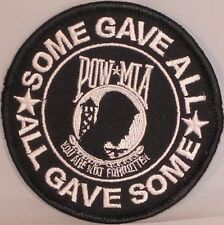 POW/MIA SOME GAVE ALL... MILITARY VETERAN EMBROIDERED MC MOTORCYCLE PATCH AL-5