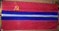 Vintage 1989 Huge flag of the USSR, Union Republic of USSR, Republic KYRGYZSTAN