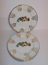6 x Vintage Alfred Meakin Glo White Ironstone Side Cake Plates Fruit Lovely
