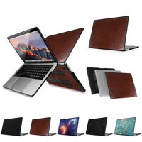 """PU Leather Coated Hard Case Cover for Newest MacBook Pro 13"""" 2016 A1706 A1708"""