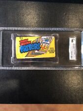 Wacky Packages Yellow Test Poster Wax Pack Rare 1973 8.5 NM Graded GAI