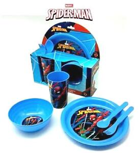 New Design Kids Character Marvel Spider man 5PC Plastic Breakfast Set