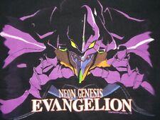 Vtg lot 1990s 1997 Neon Genesis Evangelion Black Tee shirt TOKYO Anime manga art
