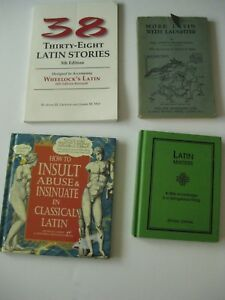 Lot of Four Books Insults Stories Humor Ancient Latin
