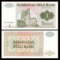 Azerbaijan 1 Manat Banknote, ND(1992), P-11, UNC, Asia Paper Money