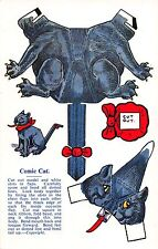 Postcard Paper Doll Toys Cut Out Comic Cat~107960