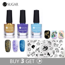 Buy 3 Get 1 Gift Nail Art Stamping Polish Kit with Free Stamping Plate Manicure