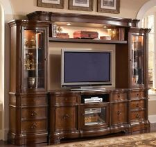 """Westchester Traditional 62"""" Tv Entertainment Center In Rich Wood Finish"""