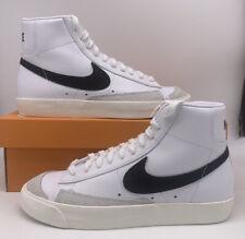 Nike Blazer Mid '77 Vintage White Black BQ6806-100 Mens Size