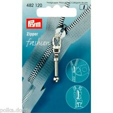 PRYM Zipper Pull ARGENTO CLUB stile RICAMBIO ZIP Puller SILVER BALL & Catena