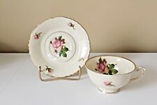 """Syracuse China Federal Shape """"Victoria"""" Pattern Cup and Saucer"""