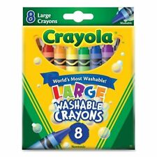 Crayola Washable Crayons, Large, 8 Ct (Pack of 24)