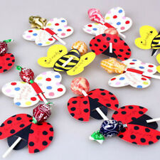 50Pcs Butterfly Animal Printed Lollipop Paper Decorative Card Candy Stick