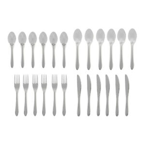 Stainless Steel Cutlery Set Fork Knife Spoon Tableware Glossy Silver Dishwasher
