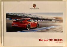 PORSCHE 911 991 GT3 RS BROCHURE Hardback Original New and Rare - 2016/2017 USA