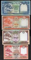 5, 10, 20, 50 Nepal Rupee Set of 4 Rastra Bank notes NEW UNC Mt. EVEREST
