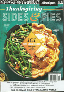 THANKSGIVING  SIDE & PIES MAGAZINE, 101 BEST - LOVED RECIPES     ISSUE, 2020