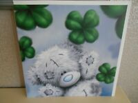 Good luck card Tatty Teddy four leaf clover - Large card -Me to you quality card