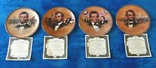 Lincoln: Portraits of Valor 4 collector plates Bradford Exchange NEW