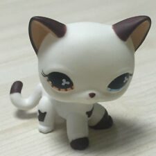 Custom OOAK LPS White  Cat  Hand Painted Figure LITTLEST PET SHOP