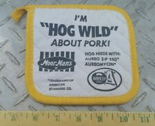 Moorman's Feed Collectible hog wild about pork pot holder nos htf nice!