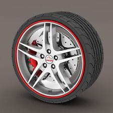 Red Rimblades Alloy Wheel Edge Ring Rim Protectors Tyres Tire Guard Rubber