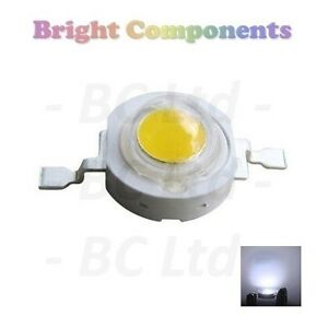 10 x 1W White Power LED - Ultra Bright - 10 Pack - 1st CLASS POST