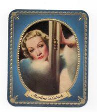Marlene Dietrich 1937 Garbaty Passion Film Favorites Embossed Cigarette Card #39