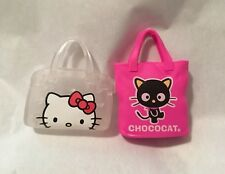 NEW 2 Barbie Purse Hello Kitty Clear Bag Chococat Pink Totebag Handbag Cat
