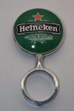 Vintage Heineken Beer Pump Top Ceramic and Metal Sign