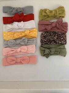 Baby girls Bow headband Top Knot hair band Bundle X11 Headbands
