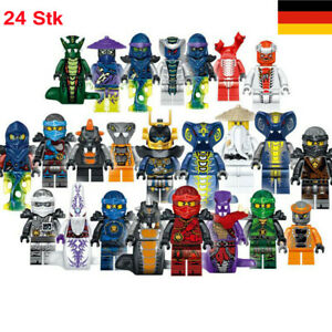 24 Stück Ninjago Lego Mini Figuren Set Zane Lloyd Kai Cole Pythor Meister Toys
