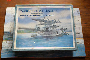 Victory Wooden JIG-SAW PUZZLE IMPERIAL AIRWAYS Short Mayo Aircraft FLYING BOAT