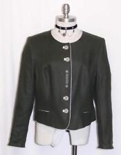 ALPHORN LODEN GREEN LINEN JACKET Coat German Women Hunt Riding Dress 44 10 M B40