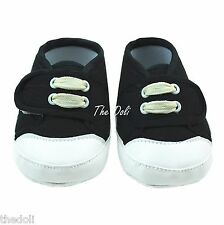 Baby Boy / Girl Canvas Shoes Color Black for newborn to 6 Months U.S. Free Ship