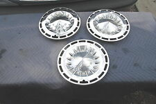 """1963 Chevy II Hubcaps 1964 Corvair 13"""" Wheel Covers Monza Very Good Condition"""