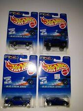 Hot Wheels Complete 4 car Blue Streak Series. 1996 Mattel. (P-33)