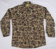Wolverine Sportsmans Apparel Mens Camo Shirt VTG USA MADE Fleece Lined Hunting L