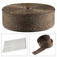 15M Titane Isolant Thermique Bande Moto Tuyau Echappement tissu wrap+ 10 collier