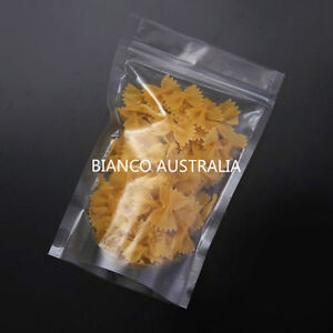 100x 70G(200ML) PLASTIC STAND UP POUCH BAG, ALL CLEAR, WITH ZIP LOCK