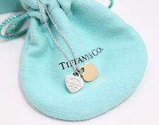 Tiffany & Co. Silver & 18K Rose Gold Return to MINI HEARTS  Pendant Necklace